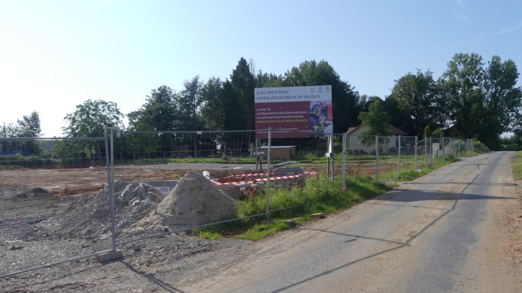 Centre de secours en construction